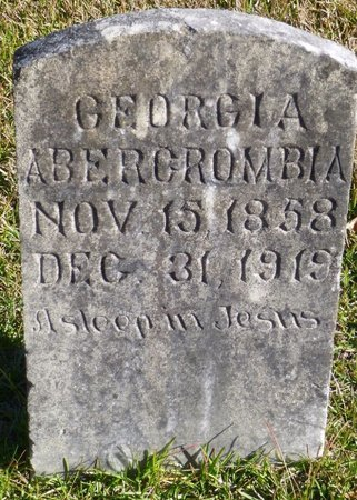 ABERCROMBIA, GEORGIA - Bartow County, Georgia   GEORGIA ABERCROMBIA - Georgia Gravestone Photos