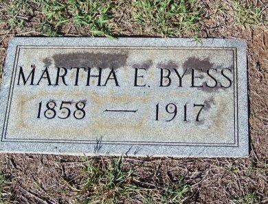BYESS, MARTHA E. - Bartow County, Georgia | MARTHA E. BYESS - Georgia Gravestone Photos