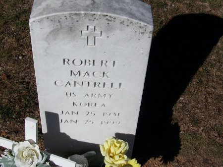 CANTRELL (VETERAN KOR), ROBERT MACK (NEW) - Bartow County, Georgia   ROBERT MACK (NEW) CANTRELL (VETERAN KOR) - Georgia Gravestone Photos