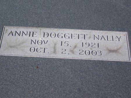 DOGGETT NALLY, ANNIE - Bartow County, Georgia | ANNIE DOGGETT NALLY - Georgia Gravestone Photos