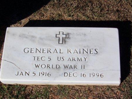 RAINES (VETERAN WWII), GENERAL (NEW) - Bartow County, Georgia | GENERAL (NEW) RAINES (VETERAN WWII) - Georgia Gravestone Photos