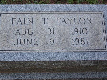 TAYLOR, FAIN T. - Bartow County, Georgia | FAIN T. TAYLOR - Georgia Gravestone Photos