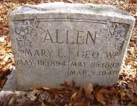 PARKER ALLEN, MARY LOUISE - Bartow County, Georgia | MARY LOUISE PARKER ALLEN - Georgia Gravestone Photos