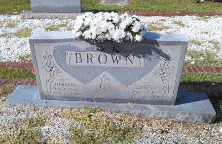 THOMAS BROWN, GENEVA - Carroll County, Georgia | GENEVA THOMAS BROWN - Georgia Gravestone Photos