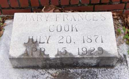 COOK, MARY FRANCES - Carroll County, Georgia | MARY FRANCES COOK - Georgia Gravestone Photos