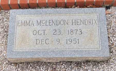 MCLENDON HENDRIX, EMMA V - Carroll County, Georgia | EMMA V MCLENDON HENDRIX - Georgia Gravestone Photos