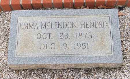 MCLENDON HENDRIX, EMMA V - Carroll County, Georgia | EMMA V MCLENDON HENDRIX - Georgia Gravestone Photos