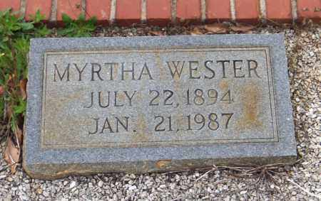 WESTER HENDRIX, MYRTHA - Carroll County, Georgia | MYRTHA WESTER HENDRIX - Georgia Gravestone Photos