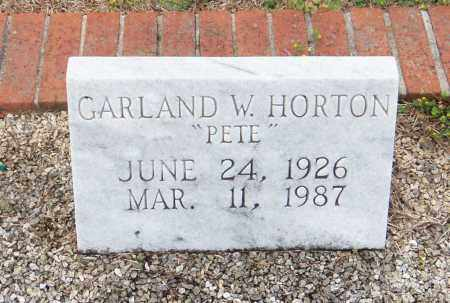 "HORTON, GARLAND WILLIFORD ""PETE"" - Carroll County, Georgia 