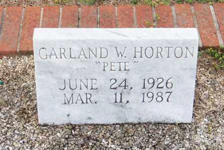 """HORTON, GARLAND WILLIFORD """"PETE"""" - Carroll County, Georgia   GARLAND WILLIFORD """"PETE"""" HORTON - Georgia Gravestone Photos"""