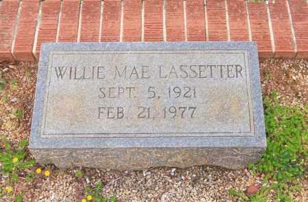 LASSETTER, WILLIE MAE - Carroll County, Georgia   WILLIE MAE LASSETTER - Georgia Gravestone Photos