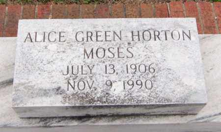 GREEN MOSES, ALICE - Carroll County, Georgia | ALICE GREEN MOSES - Georgia Gravestone Photos