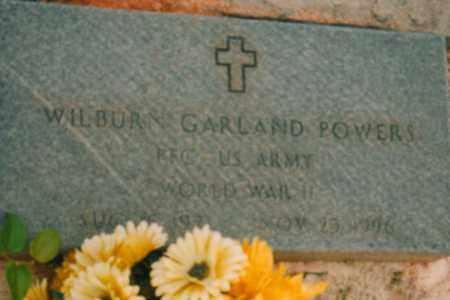 POWERS, WILBURN GARLAND - Carroll County, Georgia   WILBURN GARLAND POWERS - Georgia Gravestone Photos