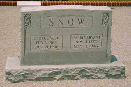 SNOW, GEORGE WASHINGTON  JR. - Carroll County, Georgia | GEORGE WASHINGTON  JR. SNOW - Georgia Gravestone Photos
