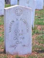 ROBINSON (VETERAN CSA), WARREN A. (NEW) - Chatham County, Georgia | WARREN A. (NEW) ROBINSON (VETERAN CSA) - Georgia Gravestone Photos