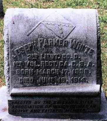 WHITE (CW CSA), JOSEPH PARKER - Chatham County, Georgia | JOSEPH PARKER WHITE (CW CSA) - Georgia Gravestone Photos