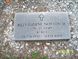 NORTON, SR (VETERAN KOR), BILLY EUGENE (NEW) - Chattooga County, Georgia | BILLY EUGENE (NEW) NORTON, SR (VETERAN KOR) - Georgia Gravestone Photos