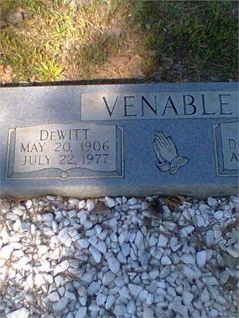 VENABLE, DEWITT - Chattooga County, Georgia | DEWITT VENABLE - Georgia Gravestone Photos