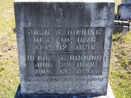 DINNING, JOHN W. - Cherokee County, Georgia | JOHN W. DINNING - Georgia Gravestone Photos