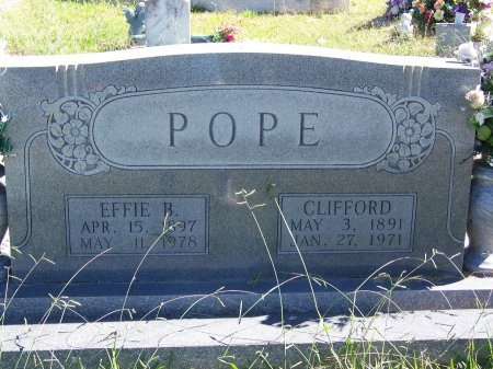 POPE, CLIFFORD - Cherokee County, Georgia | CLIFFORD POPE - Georgia Gravestone Photos