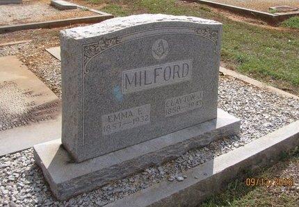 MILFORD, EMMA ELIZABETH - Franklin County, Georgia | EMMA ELIZABETH MILFORD - Georgia Gravestone Photos