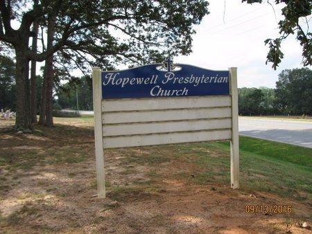 *HOPEWELL PRESBYTERIAN CHURCH, SIGN - Franklin County, Georgia   SIGN *HOPEWELL PRESBYTERIAN CHURCH - Georgia Gravestone Photos