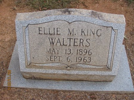 KING WALTERS, ELLIE MAY - Franklin County, Georgia | ELLIE MAY KING WALTERS - Georgia Gravestone Photos
