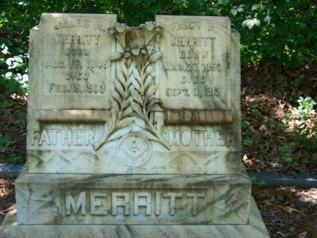 "MORRIS MERRITT, FRANCES A ""FANNY"" - Fulton County, Georgia   FRANCES A ""FANNY"" MORRIS MERRITT - Georgia Gravestone Photos"