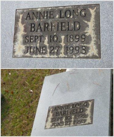 LONG BARFIELD, ANNIE - Grady County, Georgia   ANNIE LONG BARFIELD - Georgia Gravestone Photos