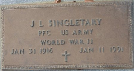 SINGLETARY (VETERAN WWII), JOHN L (NEW) - Grady County, Georgia | JOHN L (NEW) SINGLETARY (VETERAN WWII) - Georgia Gravestone Photos