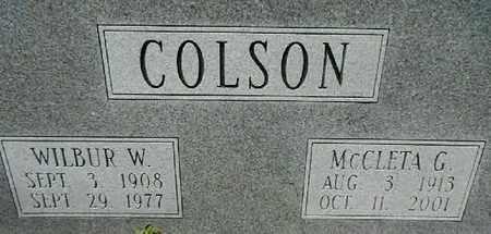 COLSON, WILBUR WILLIS - Lowndes County, Georgia | WILBUR WILLIS COLSON - Georgia Gravestone Photos