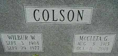 COLSON, WILBUR WILLIS - Lowndes County, Georgia | WILBUR WILLIS COLSON - Georgia Gravestone Photos