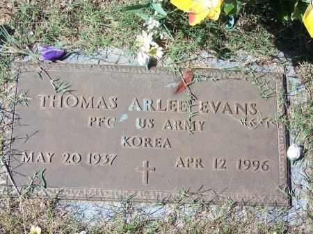 EVANS (VETERAN KOR), THOMAS ARLEE (NEW) - Pickens County, Georgia | THOMAS ARLEE (NEW) EVANS (VETERAN KOR) - Georgia Gravestone Photos