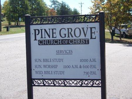 *PINE GROVE CHURCH OF CHRIST, CEMETERY SIGN - Pickens County, Georgia   CEMETERY SIGN *PINE GROVE CHURCH OF CHRIST - Georgia Gravestone Photos