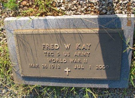 KAY (VETERAN WWII), FRED WILLIAM (NEW) - Stephens County, Georgia   FRED WILLIAM (NEW) KAY (VETERAN WWII) - Georgia Gravestone Photos