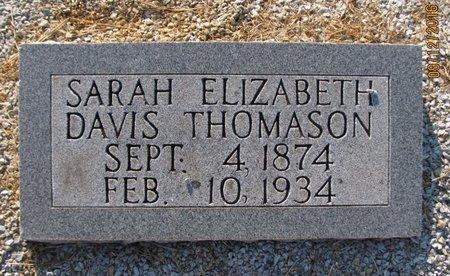 DAVIS THOMASON, SARAH ELIZABETH - Stephens County, Georgia | SARAH ELIZABETH DAVIS THOMASON - Georgia Gravestone Photos