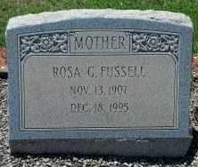 FUSSELL, ROSA - Sumter County, Georgia   ROSA FUSSELL - Georgia Gravestone Photos