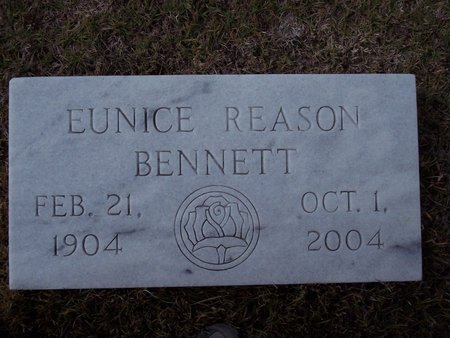 REASON BENNETT, EUNICE AUGUSTA - Troup County, Georgia | EUNICE AUGUSTA REASON BENNETT - Georgia Gravestone Photos