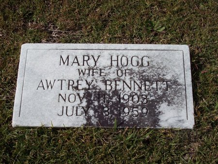 HOGG BENNETT, MARY - Troup County, Georgia | MARY HOGG BENNETT - Georgia Gravestone Photos