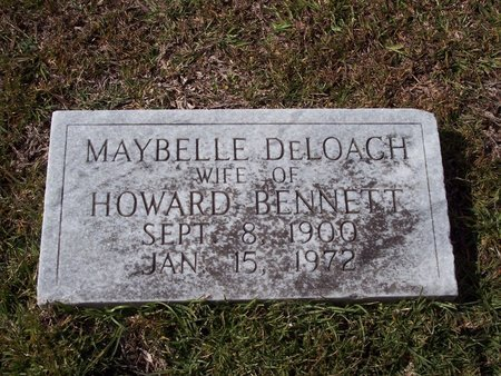 DELOACH BENNETT, MAYBELLE - Troup County, Georgia | MAYBELLE DELOACH BENNETT - Georgia Gravestone Photos