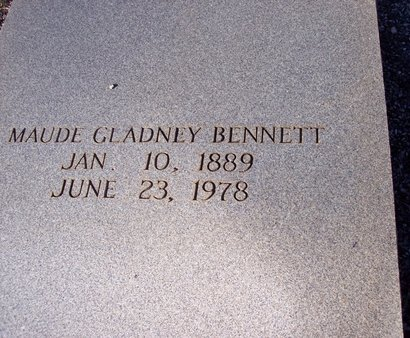 GLADNEY BENNETT, ANNIE MAUDE - Troup County, Georgia | ANNIE MAUDE GLADNEY BENNETT - Georgia Gravestone Photos