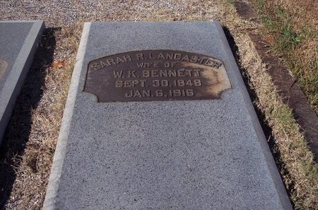 BENNETT, SARAH R. - Troup County, Georgia | SARAH R. BENNETT - Georgia Gravestone Photos