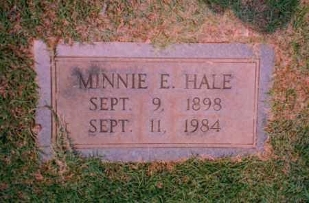 HALE, MINNIE ELIZABETH - Troup County, Georgia   MINNIE ELIZABETH HALE - Georgia Gravestone Photos