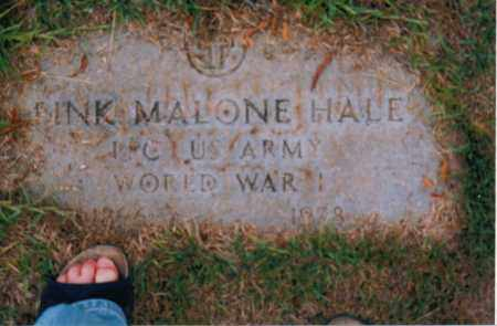 HALE (VETERAN WWI), PINK MALONE (NEW) - Troup County, Georgia | PINK MALONE (NEW) HALE (VETERAN WWI) - Georgia Gravestone Photos