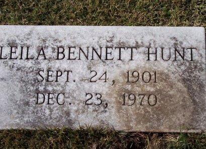 BENNETT HUNT, LEILA - Troup County, Georgia | LEILA BENNETT HUNT - Georgia Gravestone Photos