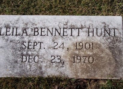BENNETT HUNT, LEILA - Troup County, Georgia   LEILA BENNETT HUNT - Georgia Gravestone Photos