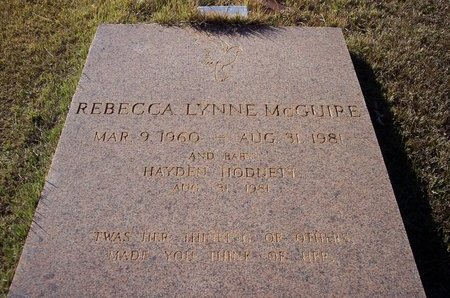 MCGUIRE, REBECCA LYNNE - Troup County, Georgia | REBECCA LYNNE MCGUIRE - Georgia Gravestone Photos