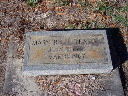 RICH REASON, MARY - Troup County, Georgia | MARY RICH REASON - Georgia Gravestone Photos
