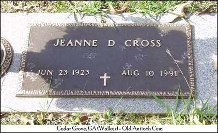 CROSS, JEANNE D. - Walker County, Georgia | JEANNE D. CROSS - Georgia Gravestone Photos