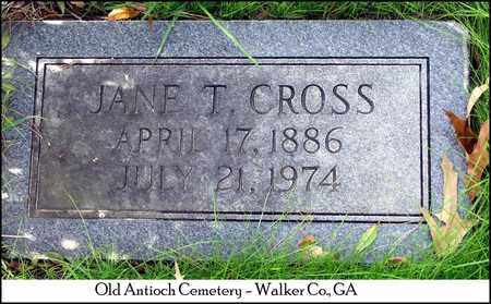 THOMAS CROSS, NANCY JANE - Walker County, Georgia | NANCY JANE THOMAS CROSS - Georgia Gravestone Photos